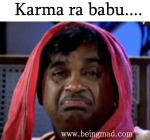 Karma Ra Babu Telugu Comment Pic