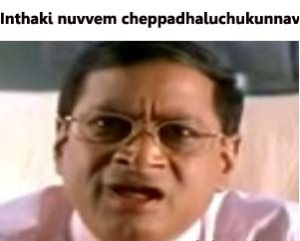 Inthaki Nuvvem Cheppadhaluchukunnav