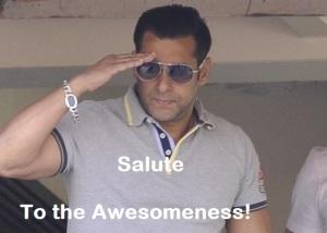 Salman Khan Salute