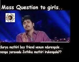 Sivakarthikeyan mass question to girls