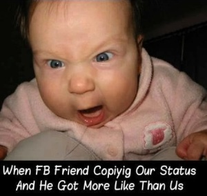 when fb friend copying our status