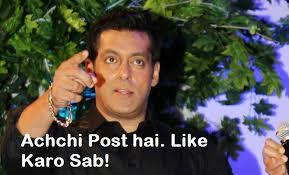 Salman Khan Achchi Post Hai Like Karo Sab!