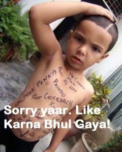 Funny Ghajini Indian Kids