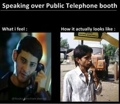 Speaking over public telephone booth