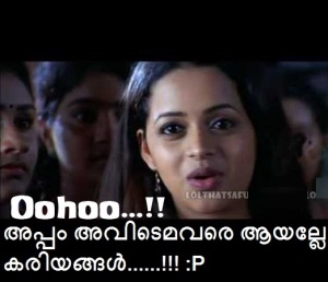 Bhavana Oohoo malayalam comment pic