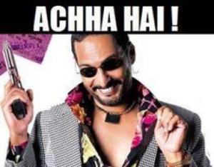 Achha Hai funny face reaction