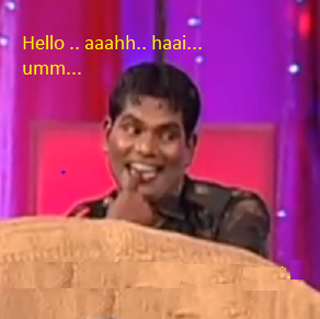 Hello Aaahhh Haai Umm comedy comment pic