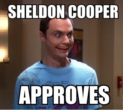 sheldon cooper approves fb comment pic