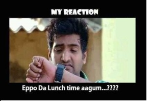 Santhanam eppo da lunch time aagum