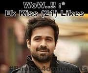 wow ek kiss 21 likes