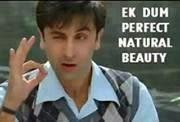 Ek Dum Perfect Natural Beauty fb comment pic