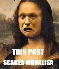 This Post Scared Monalisa fb comment pic