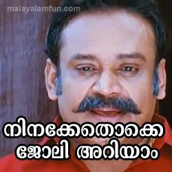 Ninakkenthokke Joly Ariyam fb comment pic