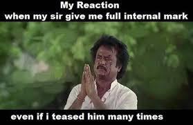 Rajini Funny Face Reaction in FB