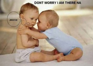 Baby Don't Worry I Am There Na comment pic