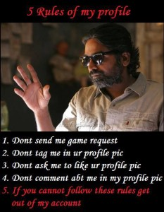 Vijay Sethupathi 5 Rules Of My Profile Fb Pic