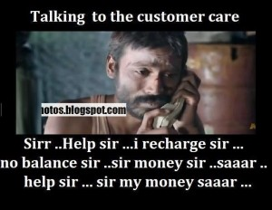 Funny Photo Talking to the Customer Care
