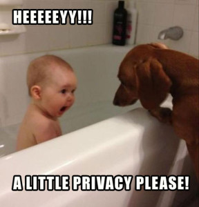 Funny Kid Taking A Bath With Dog Fb Pic