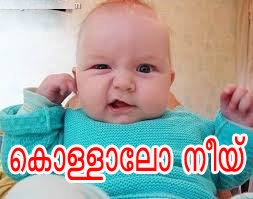 Kollalo Nee Funny Kid Comment Pic In Malayalam