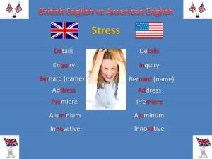 British English vs American English Stress Comment Image