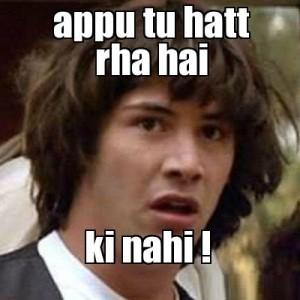 Appu Tu Hatt Rha Hai Ki Nahi Fb Comment Pic