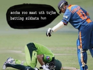 Funny Cricket Scrap with Image