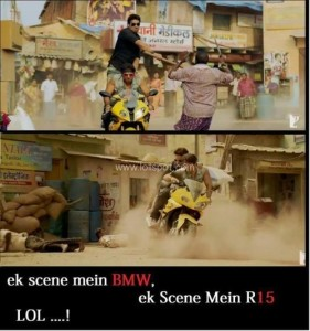 Dhoom 3 Big Mistake Funny Photo Comment