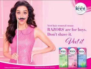 Veet Hair Removal Cream - Shraddha Kapoor