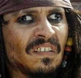 Jack Sparrow Derp Funny Face Expression