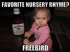 Whiskey Baby Funny Baby Picture