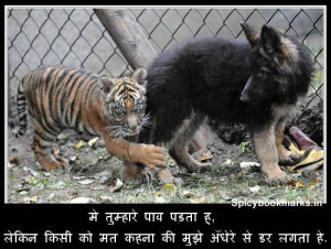 Tiger Fear Funny Pics With Hindi Comments