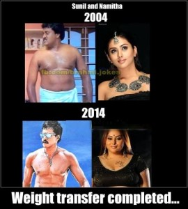 Telugu Funny Sunil and Namita Weight Transfer Completed