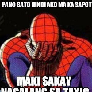 Sad Spiderman Hindi Photo Comment Pic