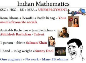 Matematic Jokes on TV Serails and Bollywood Actors