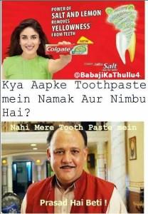 "Kya Aapke Toothpaste Mein Namak Aur Nimbu Hai""? Fb Pic"