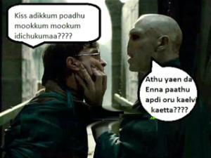 Kiss Adikkum Poadhu Mookkum Mookkum Idichukumaa????