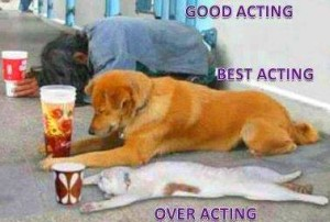 Over Acting Funny Picture Comment