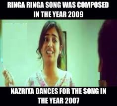 Nazriya Dances For The Song In The Year 2007