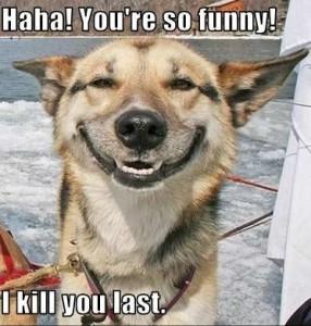 Haha ! You're So Funny ! I Kill You Last