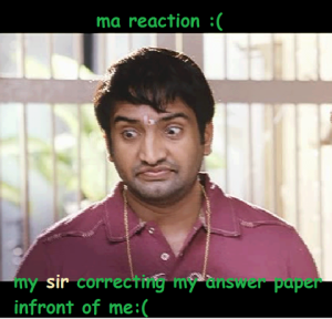 Sir Correcting Answer Paper Infront Of Me