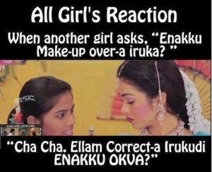 All Girls Reaction Funny Pic