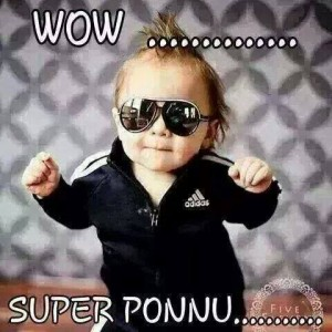 Wow..... Super Ponnu.... Kid Funny Pic