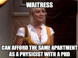 Funny Picture Waitress Penny The Big Bang Theory