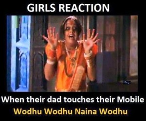 Girls Reaction - When Their Dad Touches Their Mobile