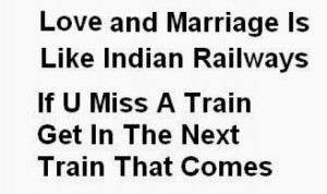 Love Marriage and Indian Railways