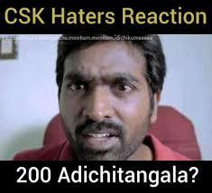CSK Haters Reaction: 200 Adichitangala?