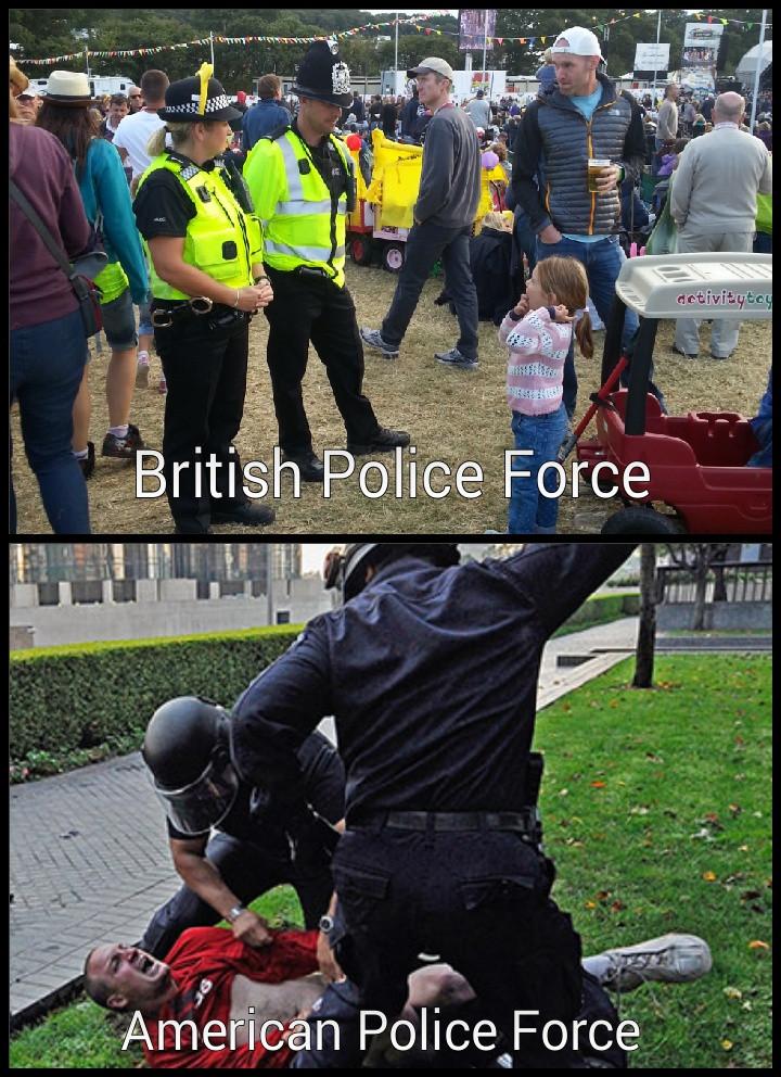 police in british english