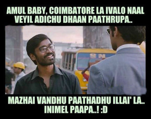 Dhanush Funny Movie Expression Dialogues