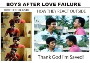 Boys After Love Failure How They Feel Inside vs Outside