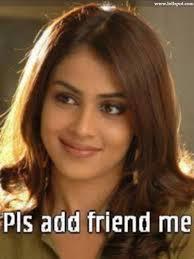 Genelia Pls Add Friend Me